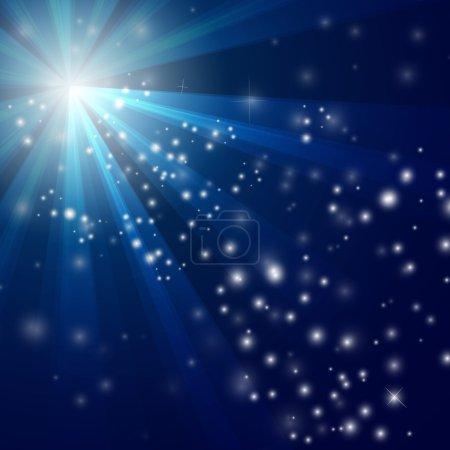 Foto de Ilustración de fondo de luz azul abstracto eps10 - Imagen libre de derechos