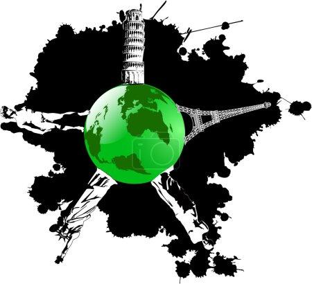 vector blot and green earth wish landmarks
