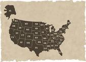 the vector retro usa map
