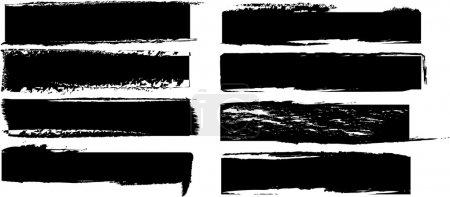 Illustration pour Ensemble de bannières noires vectorielles - image libre de droit