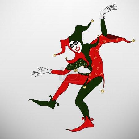 Illustration for The vector color joker illustration eps file - Royalty Free Image