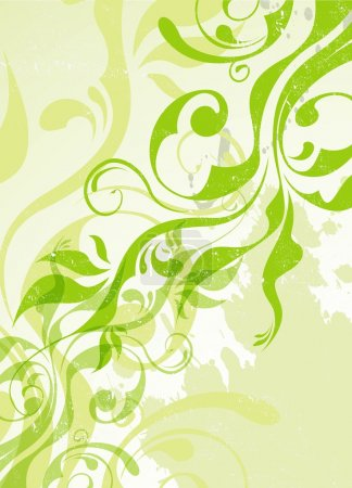 Illustration for Abstract vector green summer background eps 8 - Royalty Free Image