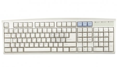 Keyboard for a computer on the white