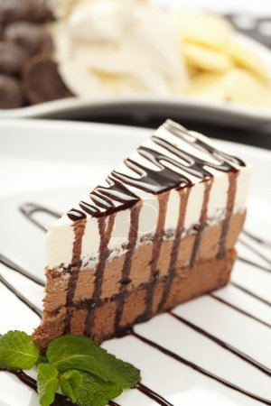 Photo pour Savoureux gâteau au fromage - image libre de droit