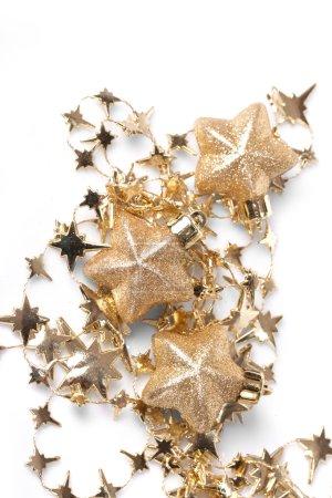Photo pour Étoiles de Noël sur fond blanc - image libre de droit
