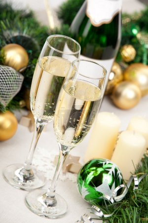 Glasses of champagne at New Year's Eve
