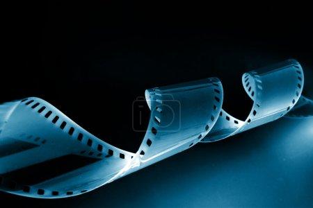 gros plan image de film de 35mm de curling