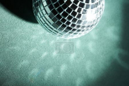 Disco background with glowing lights