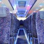 Inside of new bus...