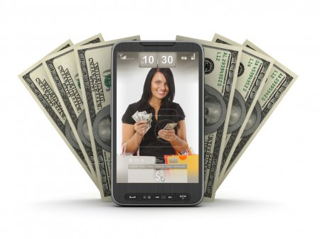 Money transactions by mobile phone