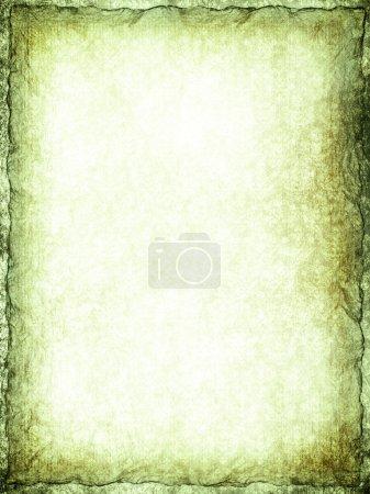 Photo pour Fond vert - papier froissé - image libre de droit