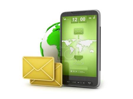 Photo pour E-mail sur téléphone portable - technologie mobile - image libre de droit