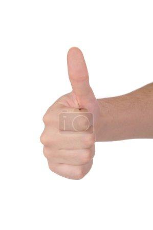 """Photo pour Gros plan d'une main d'homme, disant """"bon travail !"""" - image libre de droit"""