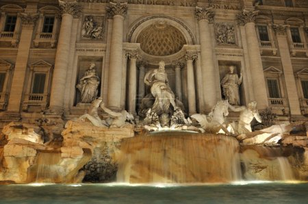 Trevi Fountain by night