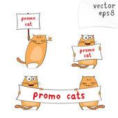 Kreslený promo kočky