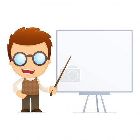 Photo pour Génial dessin animé drôle dans diverses poses pour une utilisation dans la publicité, présentations, brochures, blogs, documents et formulaires, etc. . - image libre de droit