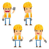 Set of funny cartoon builder