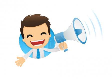 Photo pour Humour dessinateur de bureau dans diverses poses pour une utilisation dans la publicité, présentations, brochures, blogs, documents et formulaires, etc. . - image libre de droit