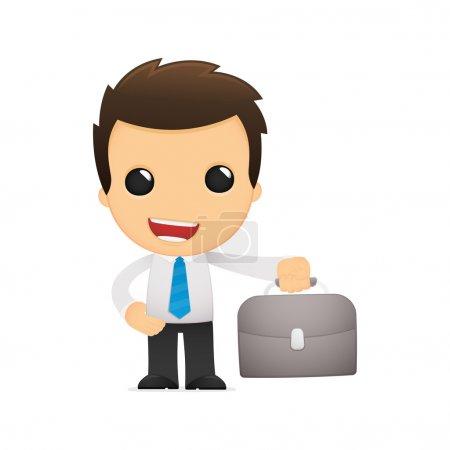 Funny cartoon office worker