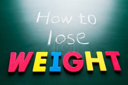 Photo for How to lose weight, colorful words on blackboard. - Royalty Free Image