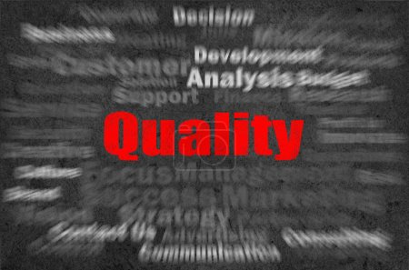 Photo for Quality concept with other related words on retro background - Royalty Free Image