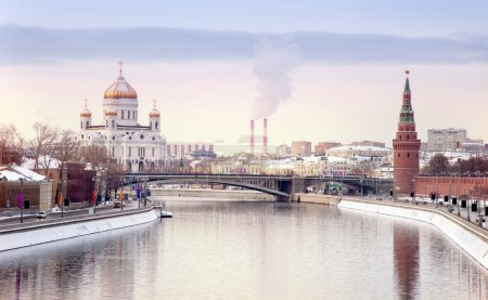 Photo for Winter landscape of city of Moscow - Royalty Free Image