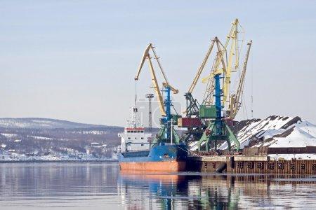 Port in the Kola bay Barents sea...