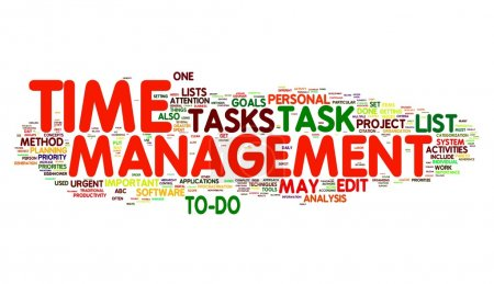 Photo for Time management concept in word tag cloud - Royalty Free Image