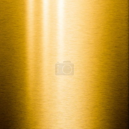 Brushed gold metal plate