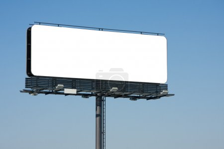 Photo for Blank billboard on blue sky ready for your advertising - Royalty Free Image