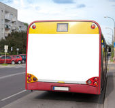 üres billboard a vissza a busz