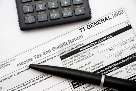 Filling in canadian tax form