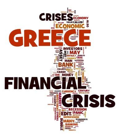 Financial crisis in Greece concept