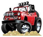 Vector cartoon jeep one click repaint