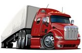 Vector cartoon semi truck one-click repaint