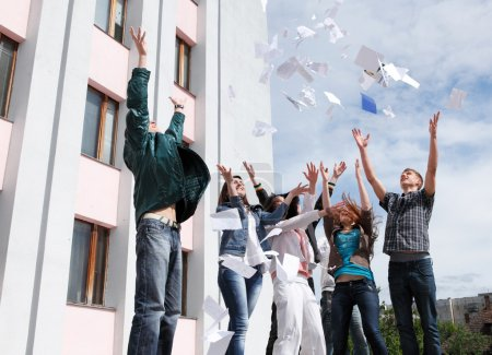Photo for Group of students to complete academic year - Royalty Free Image