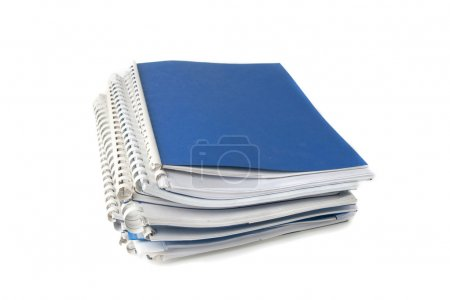 A stack of notebooks