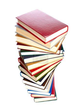 Photo pour Pile de livres isolé sur fond blanc - image libre de droit