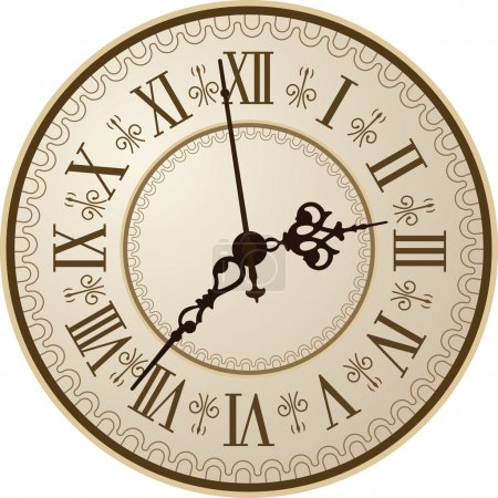 Illustration for Antique clock. Vector illustration/ - Royalty Free Image