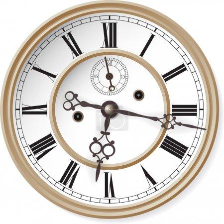 Illustration for Antique clock. Vector illustration. - Royalty Free Image