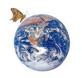 Motýl na planetě earth.elements tohoto obrazu, které na