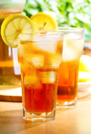 Photo for Glass of ice tea with lemon - Royalty Free Image