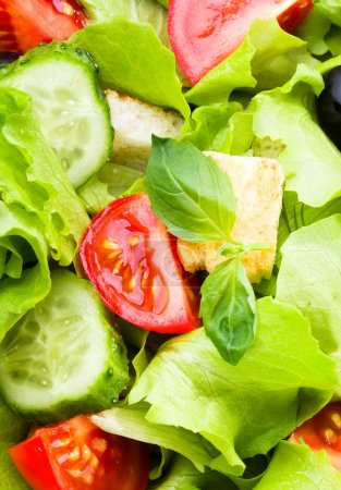 Photo for Salad with vegetables as background - Royalty Free Image