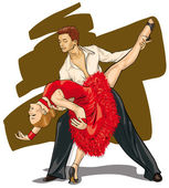 a very beautiful couple in the dance