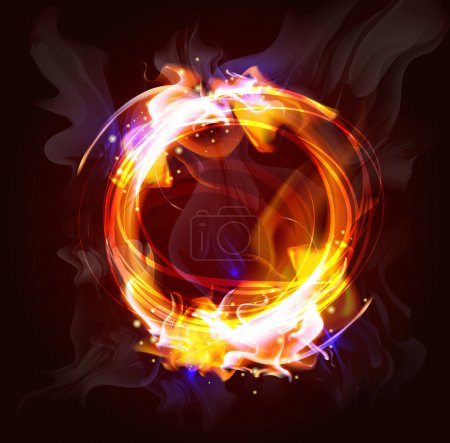 Illustration for Fire frame background for design (Vector Illustratio) - Royalty Free Image