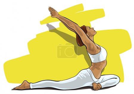 Illustration pour A graceful girl in sports (Vector Illustratio) - image libre de droit
