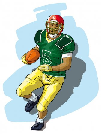 The player in college football with the ball