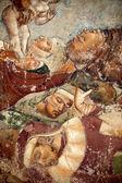 """Постер, картина, фотообои """"Пиза, camposanto, Триумф смерти, детализации, фреска, buonamico buffalma"""""""