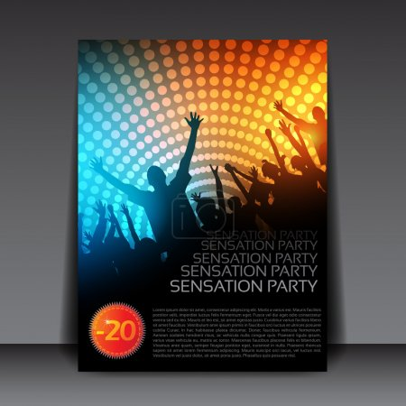 Editable Party Vector Flyer Template