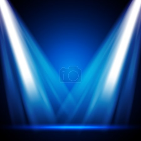 Illustration for Stage Lights - EPS10 Vector Design - Royalty Free Image